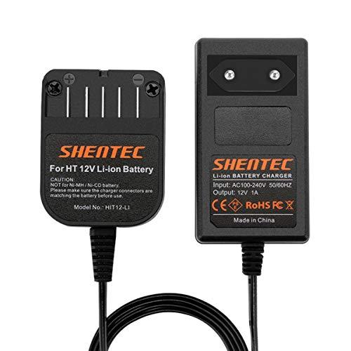 Shentec 10,8V-12V Li-Ionen Ladegeräte Für Hitachi BCL1015 329369 329370 329371 329389 331065 Einschubbatterien (nicht für Ni-MH/Ni-Cd Akkus)