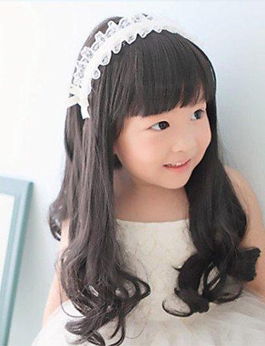xzl Pelucas de la manera encantadores niños de la princesa rizado pelucas de cabello para la fotografía 1-4 años de edad bebé,brown