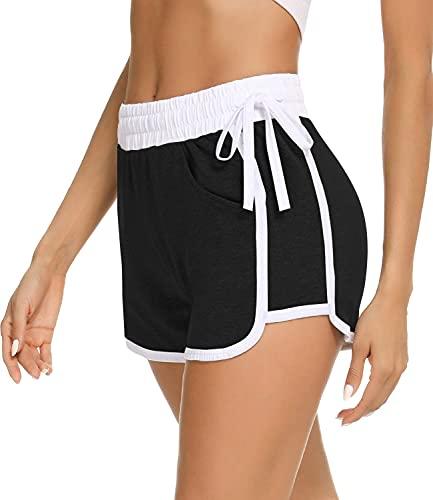 Sykooria Pantalones Cortos Deportivos Mujer, Pantalon Corto con Cordón Ajustable Algodon Casual...