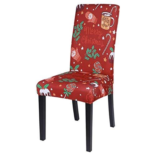 LLAAIT Funda para Silla de Navidad Spandex Stretch Elastic Hotel Wedding Banquet Arm Chair Fundas Comedor Asiento Funda