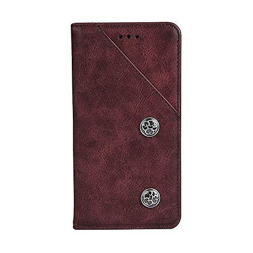 CiCiCat UMIDIGI A3/UMIDIGI A3 PRO Hülle Handyhüllen, Flip Back Cover Hülle Schutz Hülle Tasche Schutzhülle Für UMIDIGI A3/UMIDIGI A3 PRO Smartphone. (5.5'', Rot)