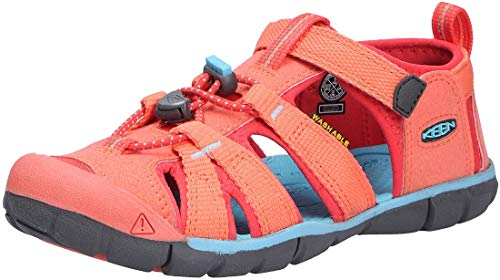 Keen Unisex-Kinder Seacamp Ii CNX Sandale, Coral/Poppy Red, 39 EU