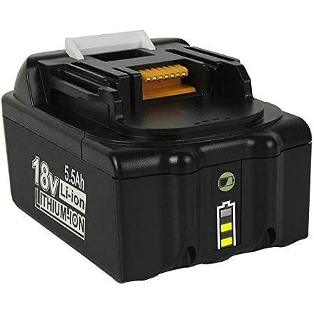 VANON BL1860 18V 5.5Ah Replacement for Makita 18V Batteries BL1850B BL1850 BL1830B BL1830 BL1840B BL1840 BL1835 BL1845 194205-3 LXT-400 with LED Indicator