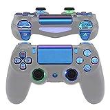 eXtremeRate LED Botones para PS4 Mando Teclas Botón D-Pad Joysitcks Gatillos Home Face Símbolos Botones DTFS(DTF 2.0) LED Kit para Playstation 4 Control para PS4-No Incluye Mando(Azul a Violeta)
