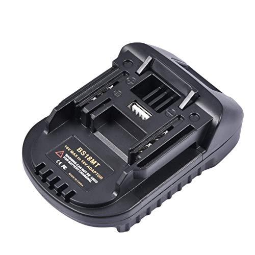 Adattatore per Batteria BS18MT con Porta di Ricarica USB, Adatto per M-Akita, Utensili Elettrici Senza Fili al Litio da 18 V Adattatore per Batteria Convertitore per Batteria
