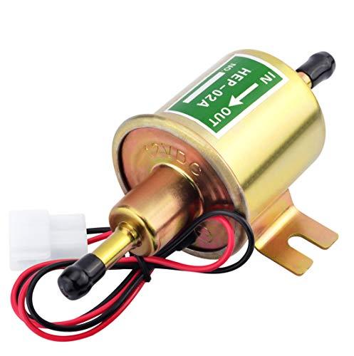 12v Universal Electric Fuel Pump,Low Pressure Gasoline Diesel External Transfer Pump for Lawn Mower Carburetor 2.5-4psi HEP-02A