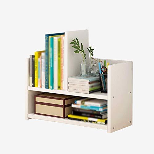 ZHFZD Opbergrek, kantoorrek, creatief, eenvoudig, van hout, klein rek Size Wit