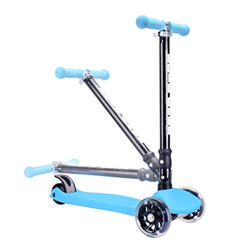 BOLDCUBE-Kids-3-Wheel-Kick-Scooter-Lean-to-Steer-Foldable-Height-Adjustable-Flashing-LED-Lights-Replaceable-Parts-Suitable-for-Girls-Boys-Ages-5-Gifts-for-Kids-Birthday-and-Christmas
