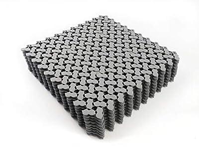 """VINTEK Peanut Tile Vinyl PVC Interlocking Drainage Floor Tiles Mat Anti-Slip 12""""x12"""" for Pool Shower Locker Bathroom Deck Patio Boat SPA Wet Area Inside/Outside (Pack of 9 Tiles - 12"""" x 12"""", Gray)"""