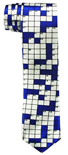 WILHJGH Impresión De Crucigrama De Moda Rebelde Exterior Corbatas Delgadas