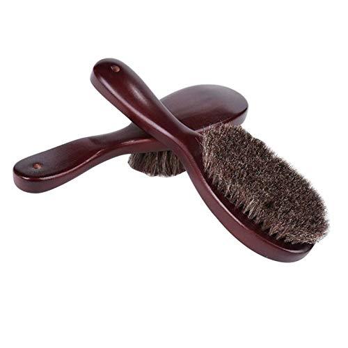 XINTUON Cepillo de pelo de caballo suave y mango de madera para ropa, cepillo para ropa, trajes y zapatos