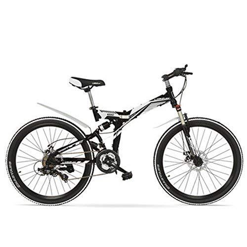 TYT Eléctrica de bicicletas de montaña K660M 24 pulgadas plegable bici de...