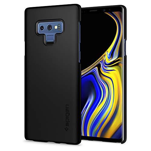 【Spigen】 Galaxy Note8 ケース [ SC-01K SCV37 ] 対応 レンズ保護 超薄型 超軽量 指紋防止 シン・フィット 587CS22051 (マット・ブラック)
