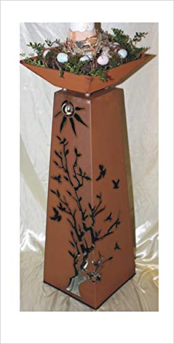 Jabo Design Rost Säule + Schale RS124+S11 Säulen konisch Gartensäulen Säulen Deko Blumen