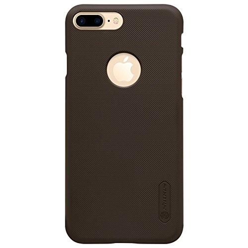Nillkin Frosted Shield - Carcasa Trasera Protectora Super Ligera, Funda Antideslizante, Estuche Anti-Rayones con Regalo para iPhone 7 Plus, Marrón