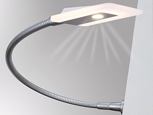 LED Bettleuchte Leseleuchte Flexleuchte Nachttischlampe Leselampe Nachtlicht, Modell:2er SET chrom