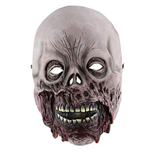 GQF Halloween lustige Kopfbedeckung Halloween Horror Gummimaske Rotten Face Zombie Maske Blood Face Zombie Screaming Death Devil Mask, Style 2