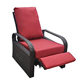 Art to Real Fauteuil inclinable d'extérieur Brown + Red