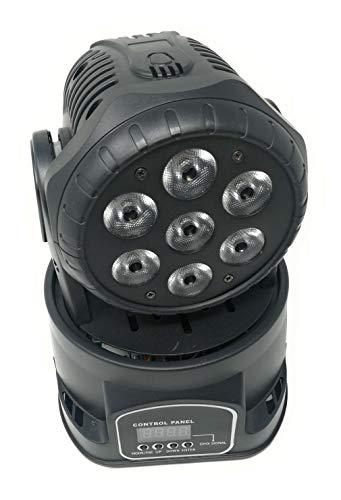 Proyector LED RGB, cabeza giratoria móvil, efectos de disco
