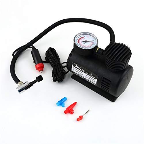 Ashley GAO Bomba de inflado de neumáticos para neumáticos de coche, 12 V, 300 PSI, color negro