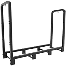 Artibear Firewood Rack Stand 4ft Heavy Duty Logs Holder for Outdoor Indoor Fireplace Metal Wood Pile Storage Stacker Organ...