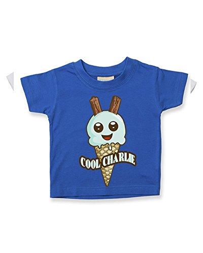 T-shirt en coton doux pour bébé/enfant - Bleu - 2-3 ans
