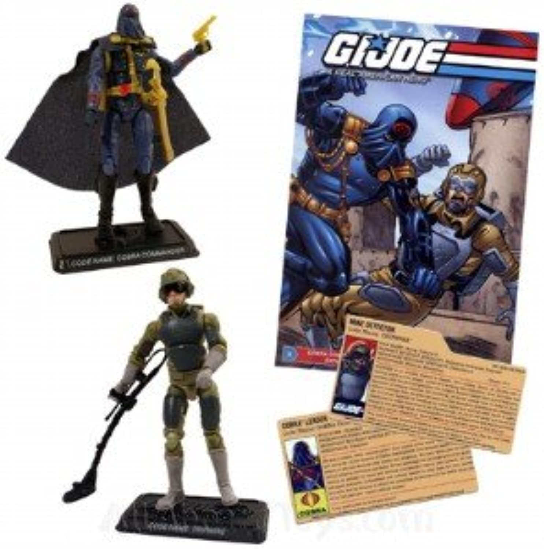 G.I. Joe Comic Pack includes G.I. Joe Comic + Cobra Commander & Tripwire Action Figures