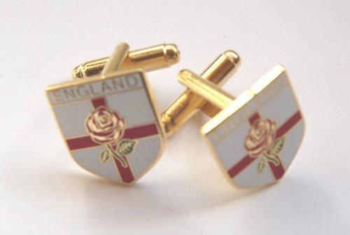 Angleterre croix de St George &-Email-Rose-post Boîte de présentation inclus