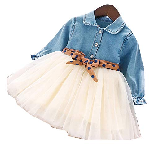 NOBRAND Vestidos para niñas cinturón Vestido para niños Vestido dePrincesa paraniños
