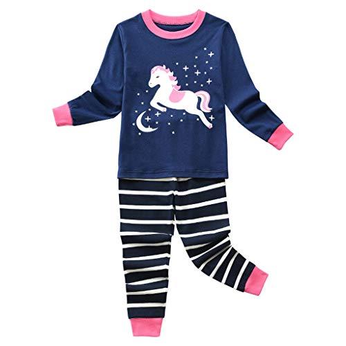 Kobay Kleinkind Kinder Baby Jungen Cartoon T Shirt Tops + Hosen Pyjamas Nachtwäsche Outfits Set Kinder Langarm Top Hosen Home Wear Pyjamas Set (1-5Y)