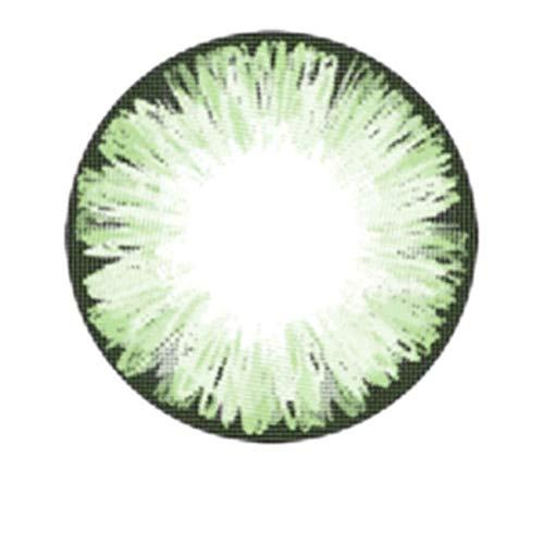 Matlens – EOS Farbige Kontaktlinsen mit Stärke circle lenses grün green ICE II 2 Linsen 1 Kontaktlinsenbehälter 1 Pflegemittel 50ml