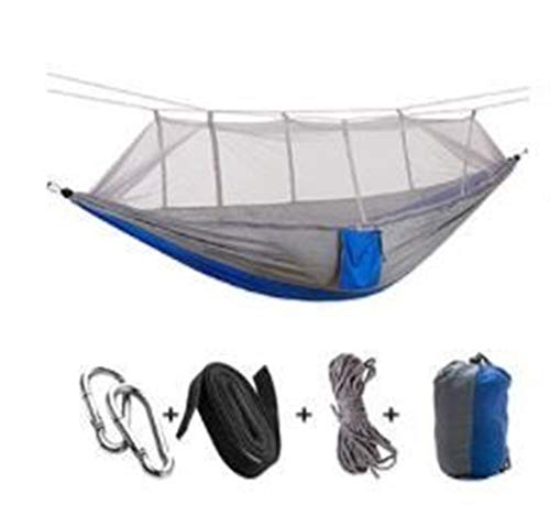 Portable 1-2 Persoon Outdoor Klamboe Parachute Hangmat Camping Opknoping Slapen Bed Swing Portable Double Chair Hammock (Color : 04)