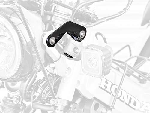 キジマ(Kijima) ステー ウインカーリロケーションステー フロント用 左右セット スチール製ブラック仕上げ ...