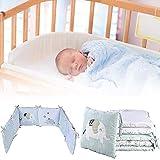 6 unids/lote Protector de cama de bebé, almohadillas de parachoques de cuna, parachoques de cama de bebé en la cuna, parachoques de cuna, mezcla de algodón de seguridad, juego de ropa de cama bebé