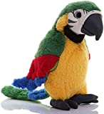 Talking Parrot Toy Macaw Parrot Kids Teens Plush Stuffed Toys Animal Plush Toy Repeat What You Say Stuffed Parrot Pet Toy Plush Buddy Parrot Bird Doll Big Bird Stuffed Plush Animal Stuffed Parrot
