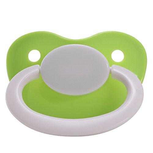 LittleForBig Schnuller in Erwachsenengröße für Erwachsene Baby ABDL Großer Saugerschild-GrünWeiß