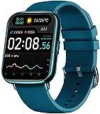 """Bengux Smartwatch,Reloj Inteligente Mujer Hombre,Pantalla TFT de 1,69"""", 24 Modos Deportivos,Impermeable IP68 con Monitor de Sueño Pulsómetros Cronómetros, Admite Android y iOS(Azul)"""