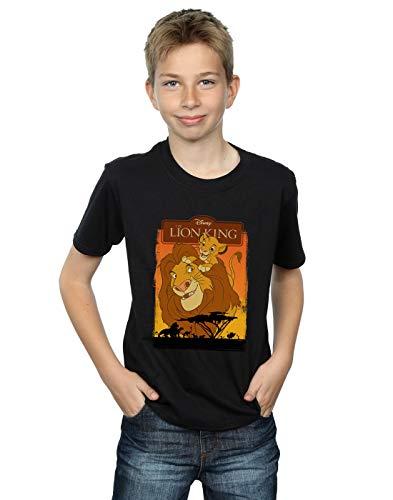 Disney Garçon The Lion King Simba and Mufasa T-Shirt Noir 5-6 Years