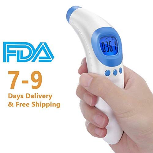 Infrared Forehead Thermometer, Non-Contact Kid and Adult Thermometer Gun with LCD Display for Accuurate Instant Readings Temperature Gun.(Same Day Shipping)