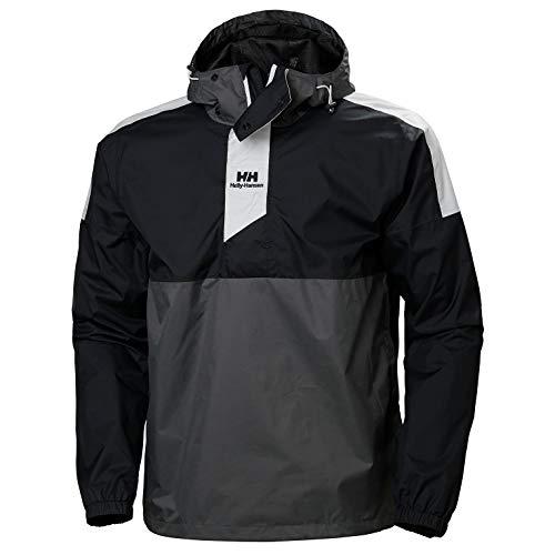 Helly Hansen Windbreaker Anorak Pullover Unisex, Black, 2XL