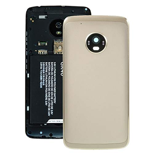 Pk1ftd Batterie-rückseitige Abdeckung for Motorola Moto G5 Plus (Gray) Ersatzteile (Color : Gold)