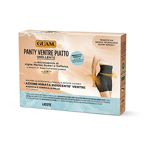 Guam Panty Ventre Piatto, Colore Nero con Microcapsule di Alghe Marine e Caffeina, S/M (42-44)