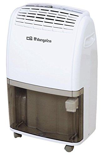 Orbegozo DH 2060 - Deshumidificador con función calefacción, hasta 20 litros de absorción diaria, conexión para desagüe, depósito de 3.5 litros y panel de control digital, blanco y negro