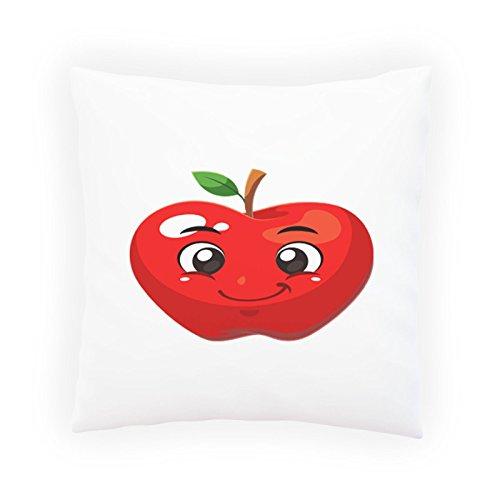 INNOGLEN Roter Apfel Smile Dekoratives Kissen, Kissenbezug mit Einlage/Füllung oder ohne, 45x45cm u632p