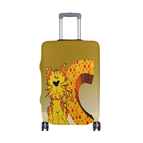 IUBBKI Travel Luggage Cover Cartoon Cat Litter Suitcase Protector Fits XL Washable Baggage Covers