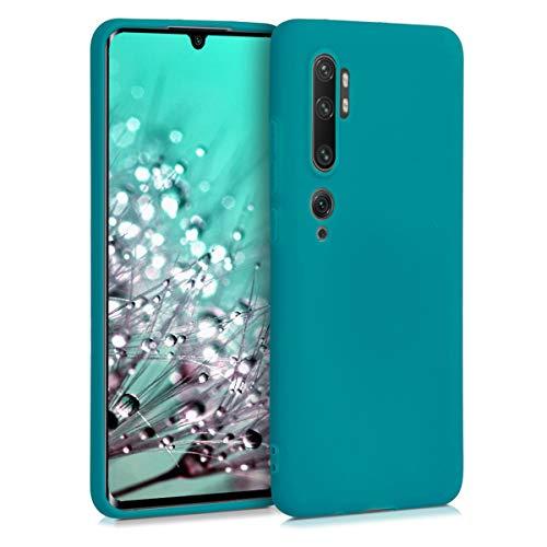 kwmobile Funda Compatible con Xiaomi Mi Note 10 / Note 10 Pro - Funda Carcasa de TPU Silicona - Protector Trasero en petróleo Mate