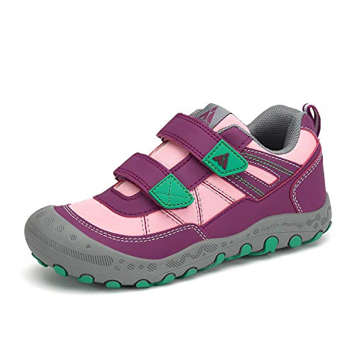 Mishansha Zapatos de Bambas Niños Niña Zapatillas Senderismo Antideslizante Trekking Sneakers Rosa Roja 28 EU