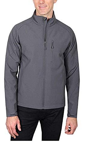 Kirkland Signature Men's Softshell Jacket, Variety (Gray Embo, X-Large)