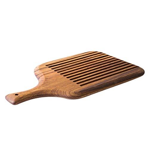 Decoración del hogar- Acacia de cortar bloques retro Sushi Pizza Pan bandeja de palets con la manija de la tabla de cortar de madera entera Alimentos Placa de cocina Accesorios Decoración de pared par