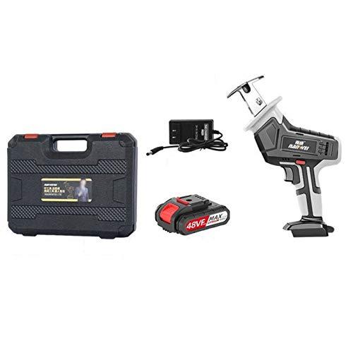 SXHYL Mini Motosierra, Motosierra inalámbrica a batería 5.9 Pulgadas, Sierra de Cadena portátil, operación con una Mano, Tijeras de podar, Motosierra para podar Ramas árboles, Cortar Madera